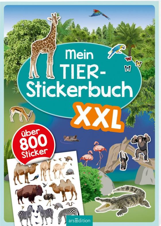 Cover-Bild Mein Tier-Stickerbuch XXL