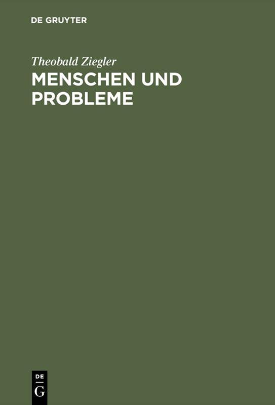 Cover-Bild Menschen und Probleme