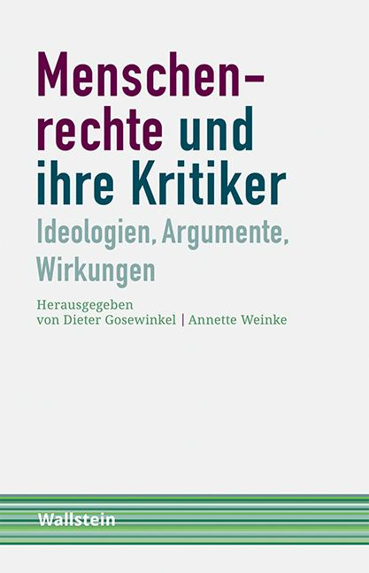 Cover-Bild Menschenrechte und ihre Kritiker