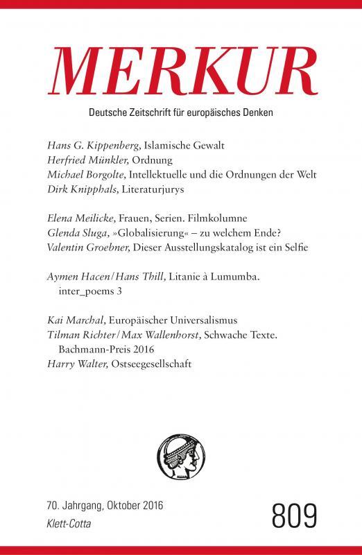 Cover-Bild MERKUR Deutsche Zeitschrift für europäisches Denken - 2016-10