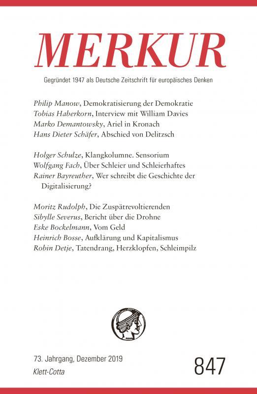 Cover-Bild MERKUR Gegründet 1947 als Deutsche Zeitschrift für europäisches Denken - 2019-12