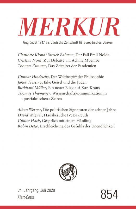 Cover-Bild MERKUR Gegründet 1947 als Deutsche Zeitschrift für europäisches Denken - 2020-07