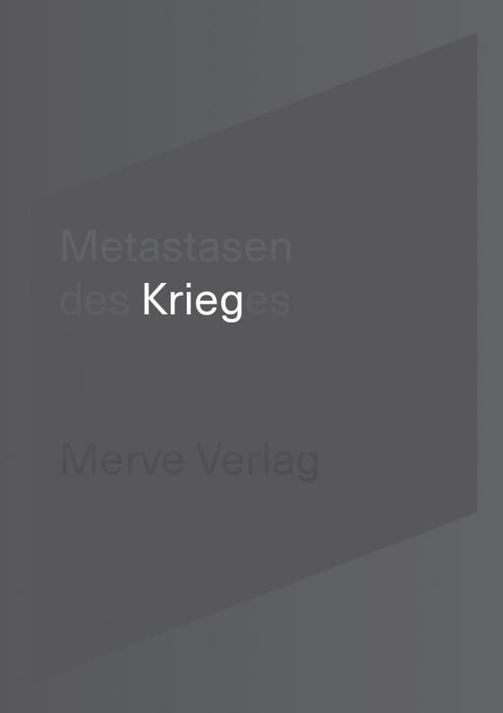 Cover-Bild Metastasen des Krieges