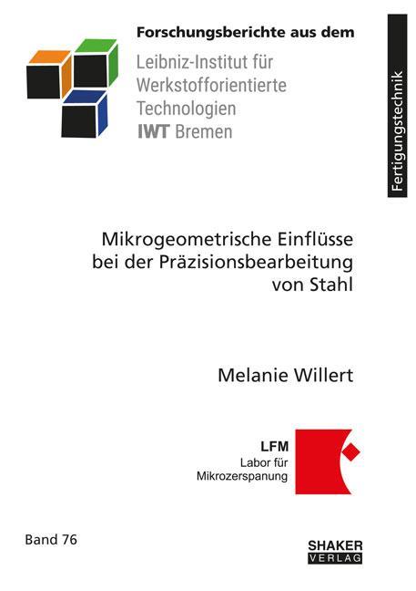 Cover-Bild Mikrogeometrische Einflüsse bei der Präzisionsbearbeitung von Stahl
