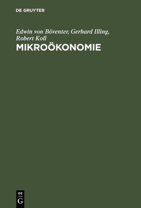 Cover-Bild Mikroökonomie
