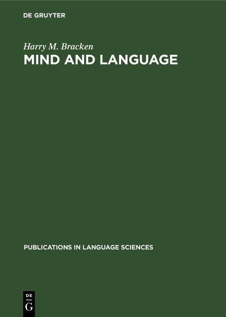 Cover-Bild Mind and language