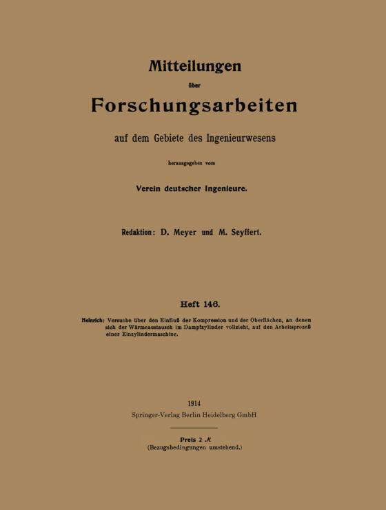 Cover-Bild Mitteilungen über Forschungsarbeiten auf dem Gebiete des Ingenieurwesens