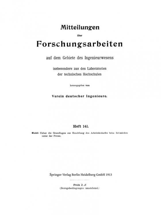 Cover-Bild Mitteilungen über Forschungsarbeiten