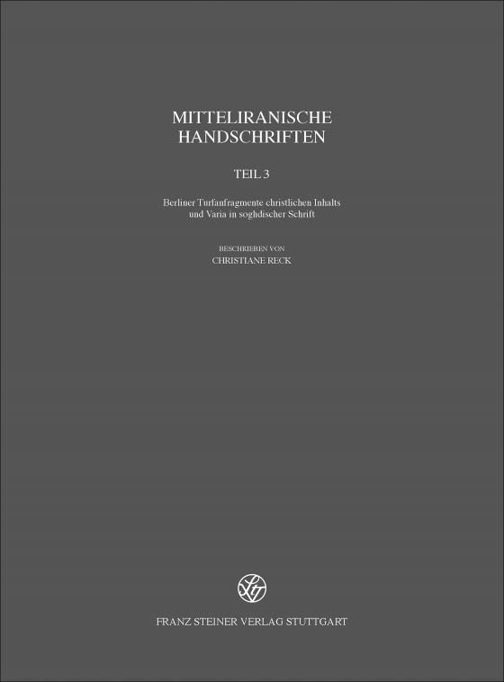 Cover-Bild Mitteliranische Handschriften