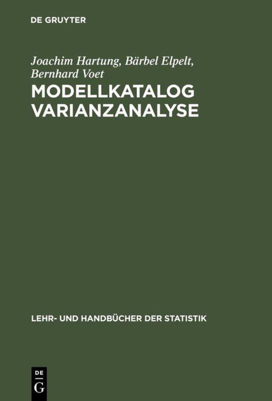 Cover-Bild Modellkatalog Varianzanalyse