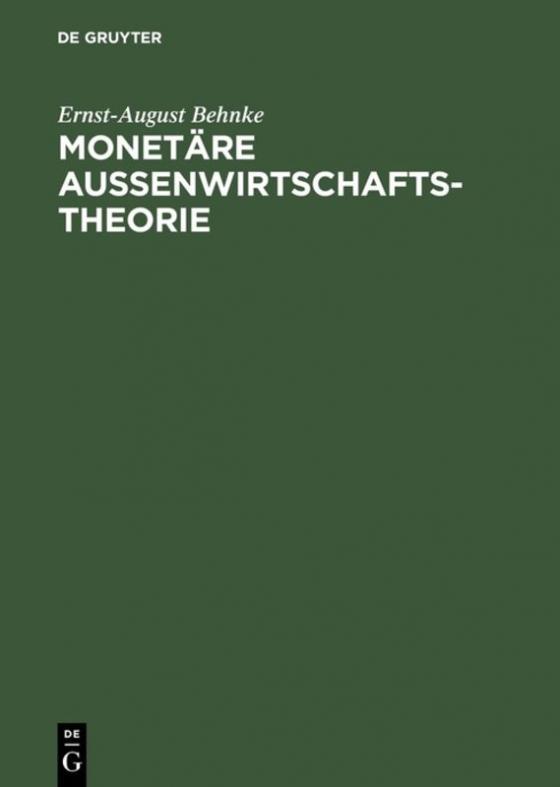 Cover-Bild Monetäre Außenwirtschaftstheorie