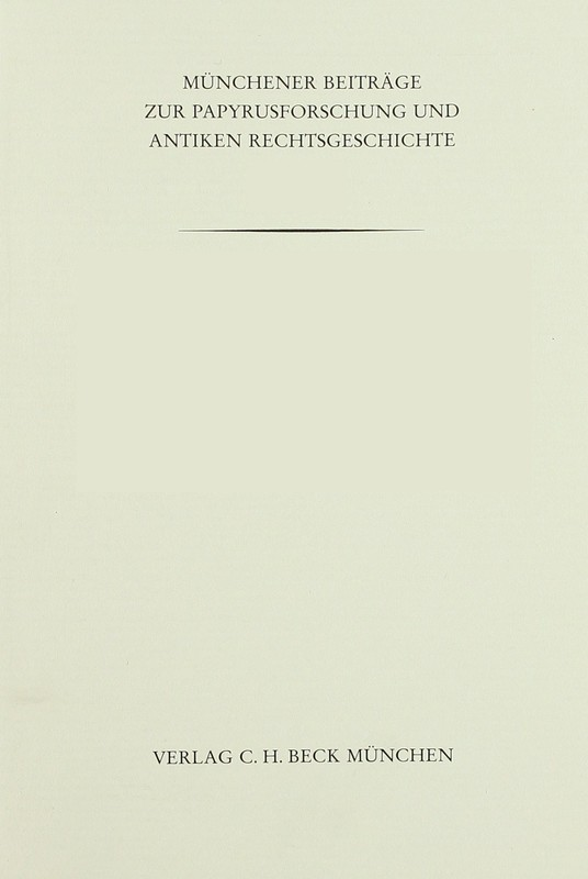 Cover-Bild Münchener Beiträge zur Papyrusforschung Heft 117: Das Geld der Ptolemaier