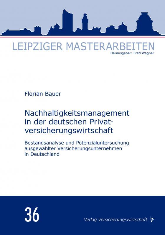 Cover-Bild Nachhaltigkeitsmanagement in der deutschen Privatversicherungswirtschaft