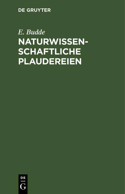 Cover-Bild Naturwissenschaftliche Plaudereien