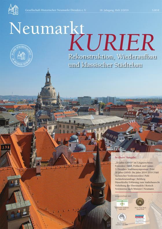 Cover-Bild Neumarkt-Kurier Rekonstruktion, Wiederaufbau und klassischer Städtebau, Heft 2/2019