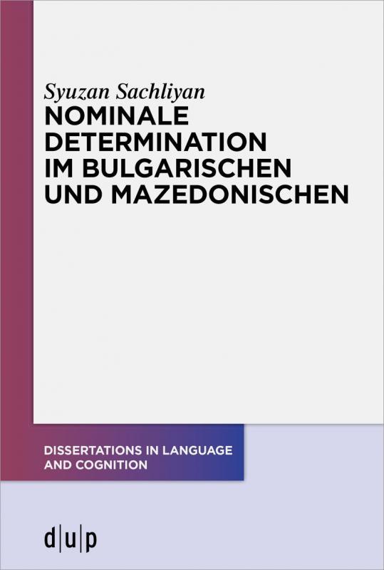 Cover-Bild Nominale Determination im Bulgarischen und Mazedonischen