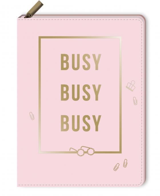 Cover-Bild Notizbuch mit Reißverschluss - Busy, busy, busy