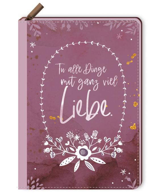 Cover-Bild Notizbuch mit Reißverschluss - Tu alle Dinge mit ganz viel Liebe