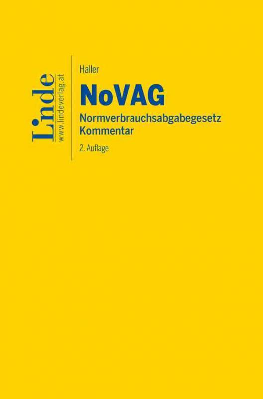 Cover-Bild NoVAG   Normverbrauchsabgabegesetz