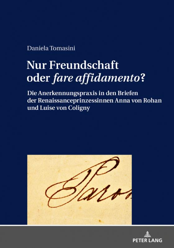 Cover-Bild Nur Freundschaft oder «fare affidamento»?