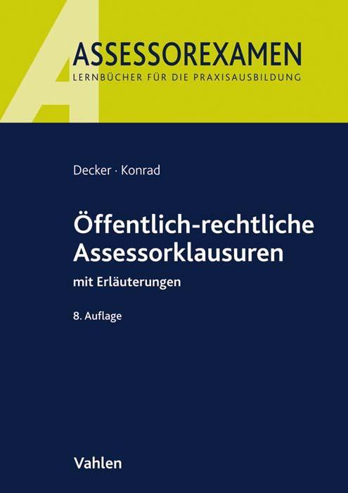 Cover-Bild Öffentlich-rechtliche Assessorklausuren