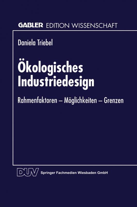 Cover-Bild Ökologisches Industriedesign