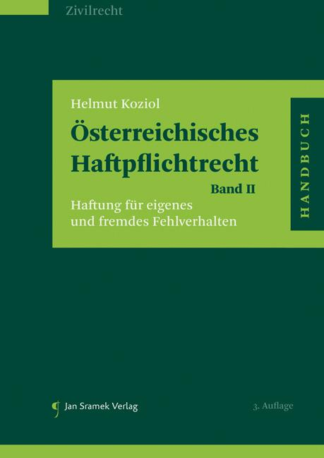 Cover-Bild Österreichisches Haftpflichtrecht Band II