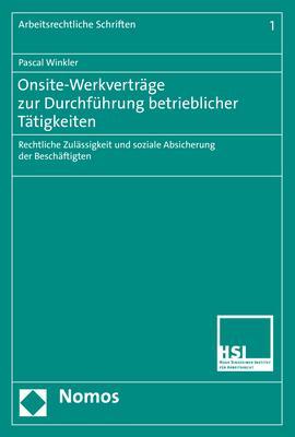 Cover-Bild Onsite-Werkverträge zur Durchführung betrieblicher Tätigkeiten
