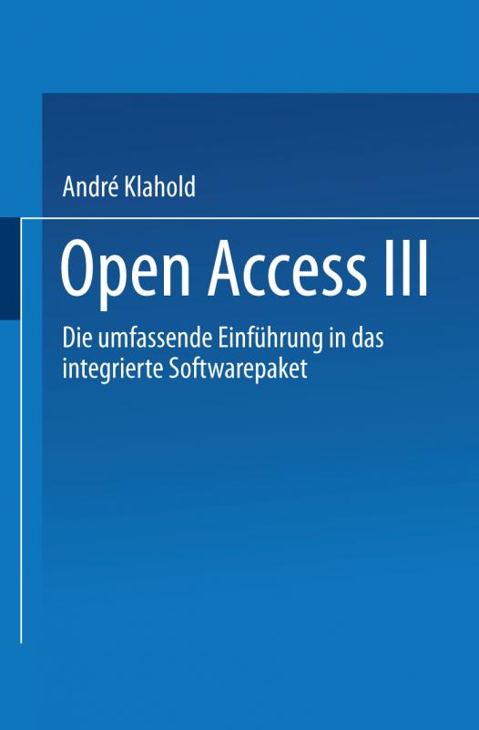Cover-Bild Open Access III