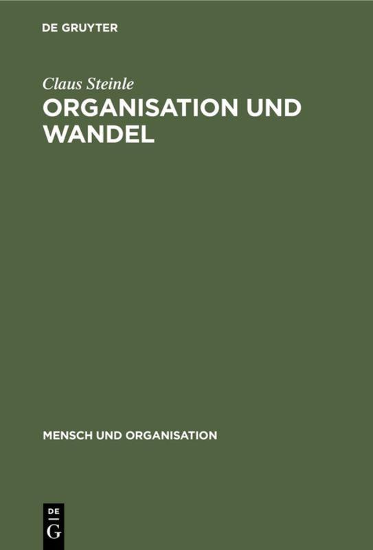 Cover-Bild Organisation und Wandel