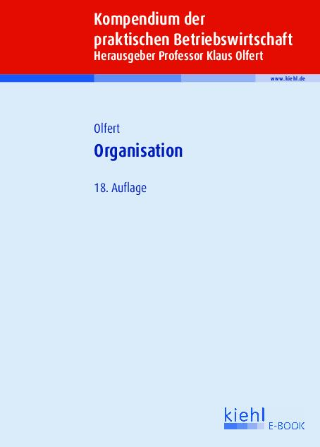 Cover-Bild Organisation