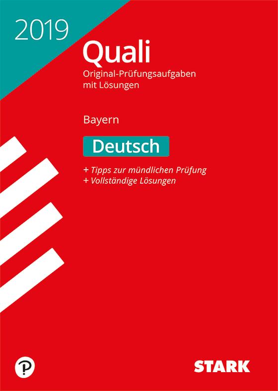 Cover-Bild Original-Prüfungen Quali Mittelschule 2019 - Deutsch 9. Klasse - Bayern