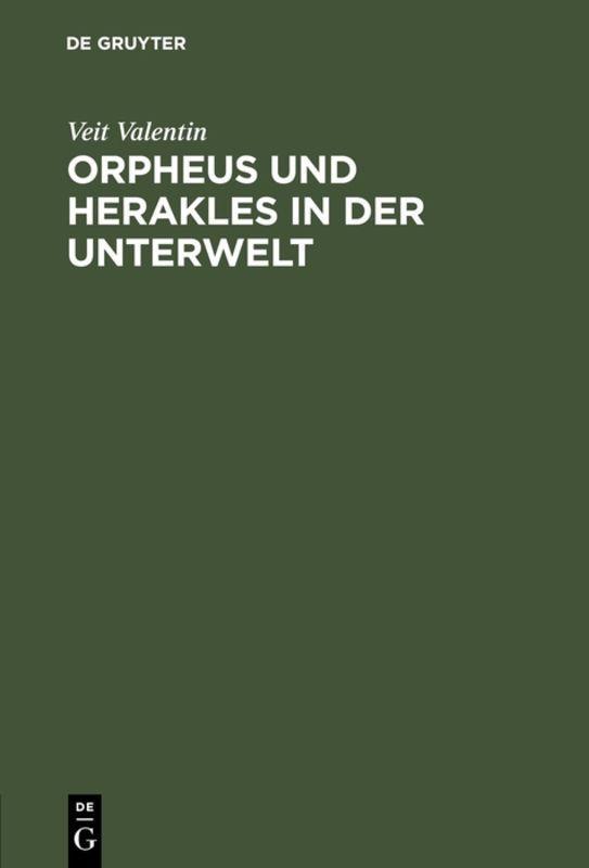 Cover-Bild Orpheus und Herakles in der Unterwelt