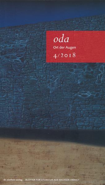 Cover-Bild Ort der Augen. Blätter für Literatur aus Sachsen-Anhalt / Ort der Augen, Blätter für Literatur aus Sachsen-Anhalt
