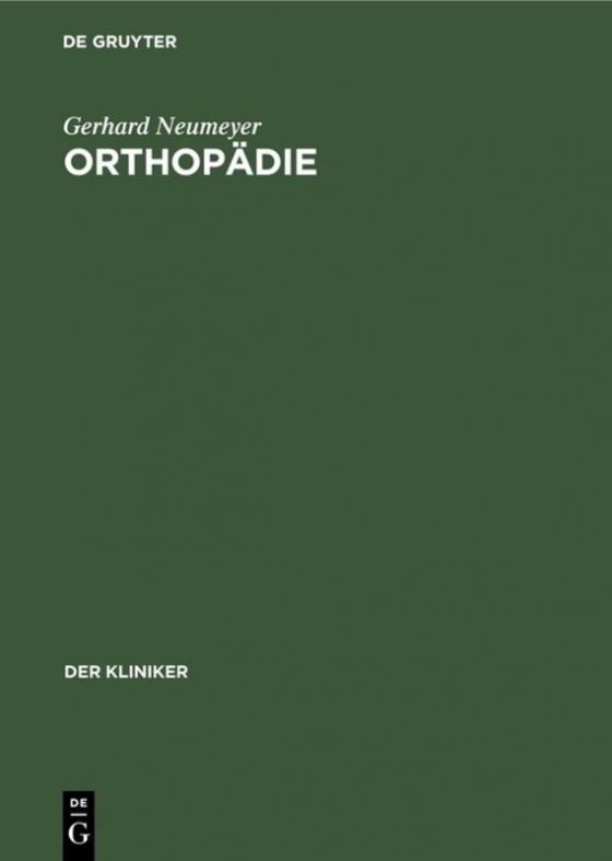 Cover-Bild Orthopädie