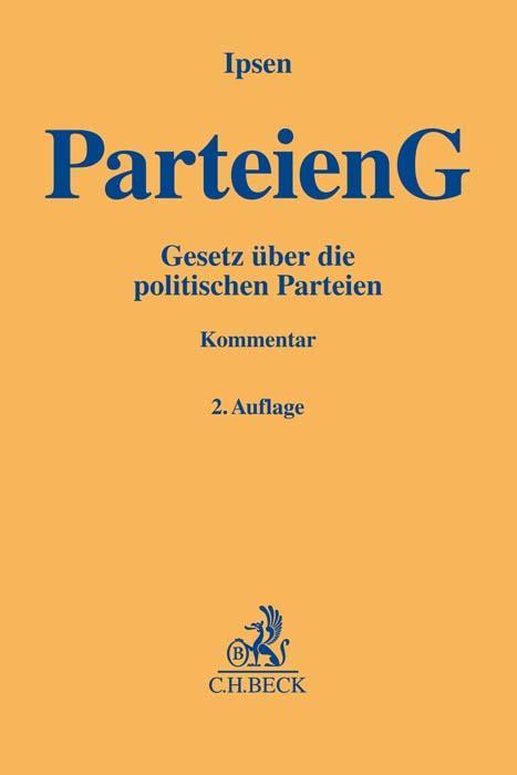 Cover-Bild Parteiengesetz