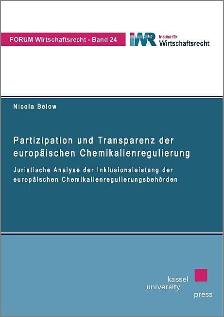 Cover-Bild Partizipation und Transparenz der europäischen Chemikalienregulierung