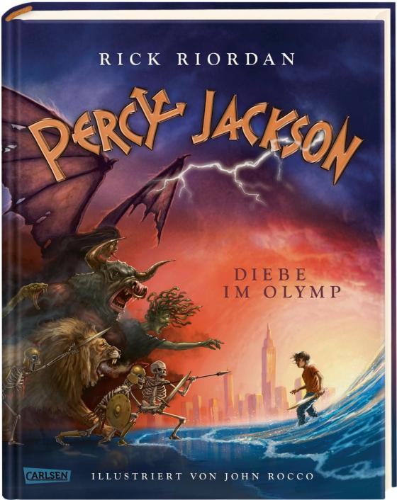 Cover-Bild Percy Jackson - Diebe im Olymp (farbig illustrierte Schmuckausgabe) (Percy Jackson 1)