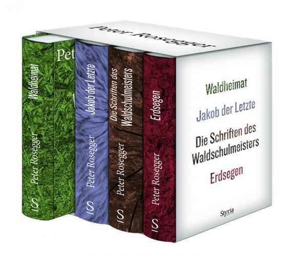 Cover-Bild Peter Rosegger. Ausgewählte Werke. Gesamtschuber mit 4 Bänden