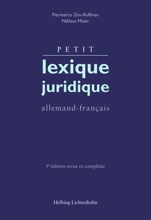 Cover-Bild Petit lexique juridique