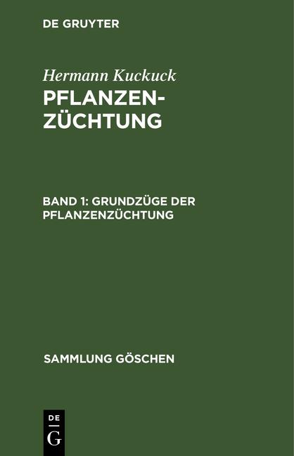 Cover-Bild Pflanzenzüchtung / Grundzüge der Pflanzenzüchtung