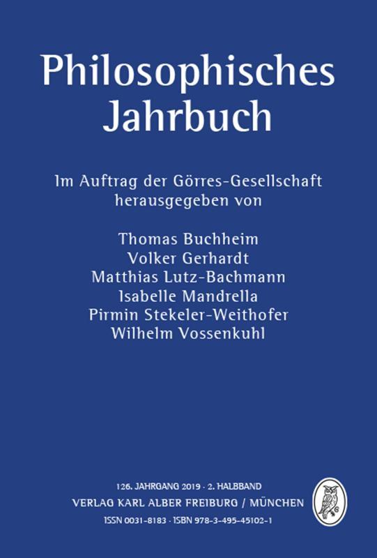Cover-Bild Philosophisches Jahrbuch