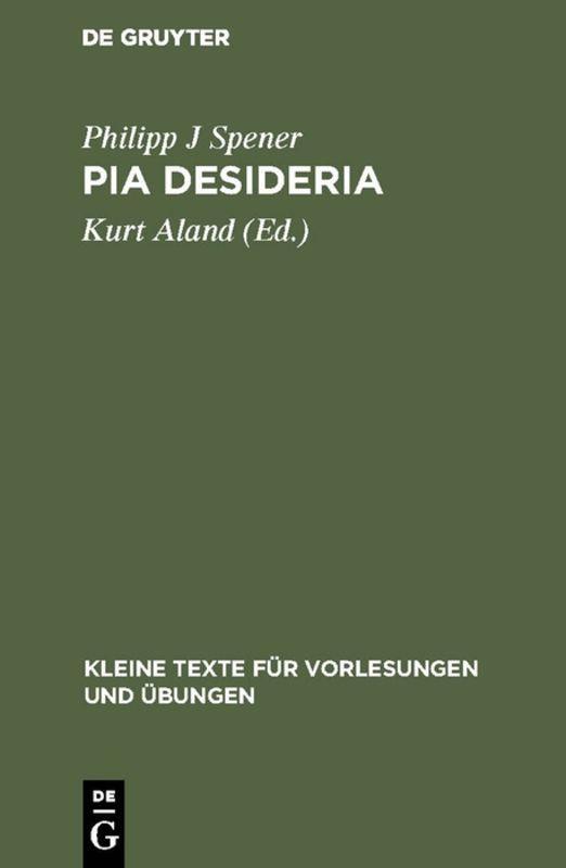 Cover-Bild Pia Desideria