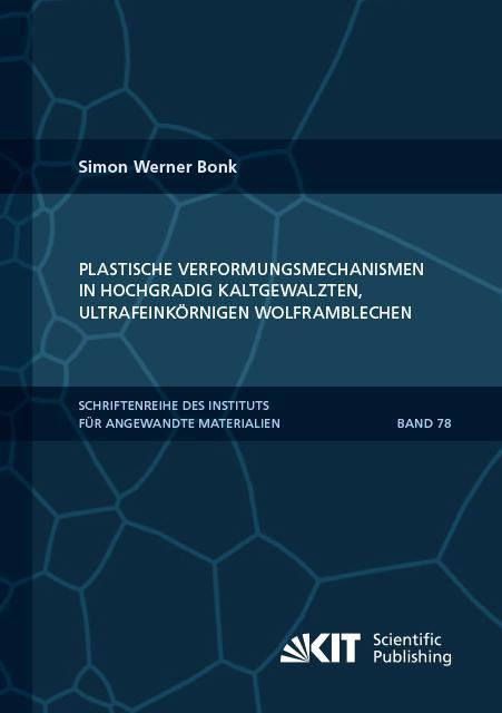 Cover-Bild Plastische Verformungsmechanismen in hochgradig kaltgewalzten, ultrafeinkörnigen Wolframblechen