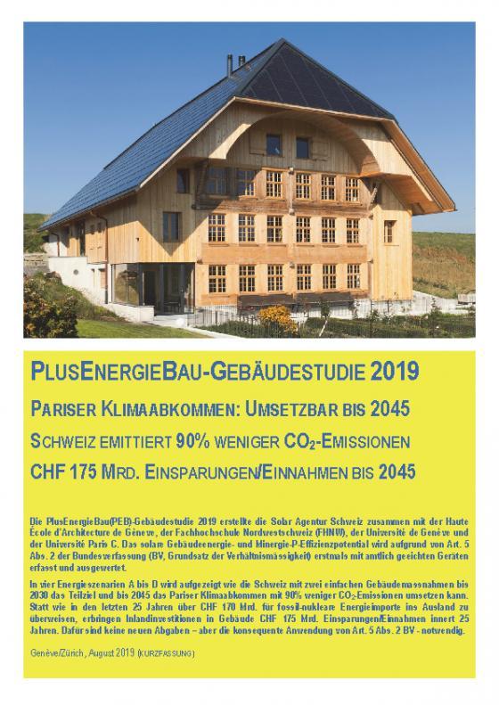 Cover-Bild PlusEnergieBau-Gebäudestudie 2019