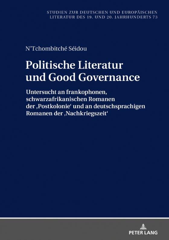 Cover-Bild Politische Literatur und Good Governance