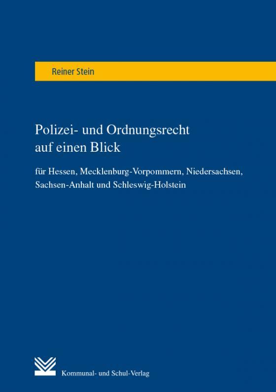Cover-Bild Polizei- und Ordnungsrecht auf einen Blick