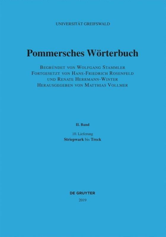 Cover-Bild Pommersches Wörterbuch / Striepwark bis Treck