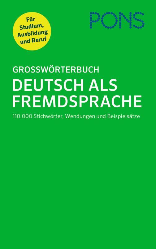 Cover-Bild PONS Großwörterbuch Deutsch als Fremdsprache