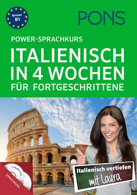 Cover-Bild PONS Power-Sprachkurs Italienisch in 4 Wochen für Fortgeschrittene